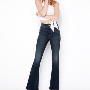 Express High Waisted Bell Flare Jeans. Long. Boho